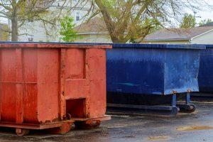 contenedor de recoleccion de basura en planta